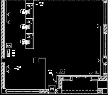 نقشه کشی تاسیسات برق  ساختمان اداری  (پلان روشنایی)