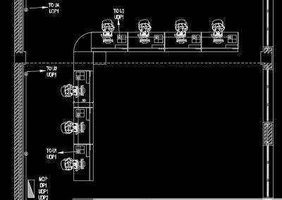 آموزش نقشه کشی تاسیسات برق ساختمان اداری (پلان پریزهای برق اضطراری)