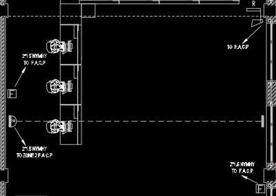 آموزش نقشه کشی تاسیسات برق ساختمان اداری (پلان سیستم اعلام حریق)