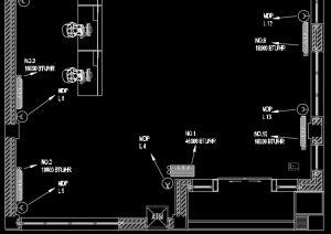 آموزش نقشه کشی تاسیسات برق  ساختمان اداری (پلان برق رسانی اسپلیت)